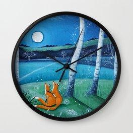 Moon gazers Wall Clock