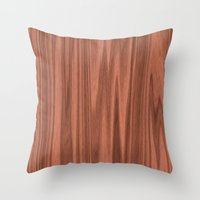 wooden Throw Pillows featuring Wooden Structure  by MehrFarbeimLeben