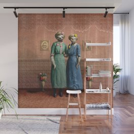 The Sloth Sisters at Home Wall Mural