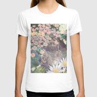 budi satria kwan T-shirts featuring Reflections - Zen Garden Kwan Yin Goddess Art by Fusion Idol