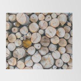Logged Throw Blanket