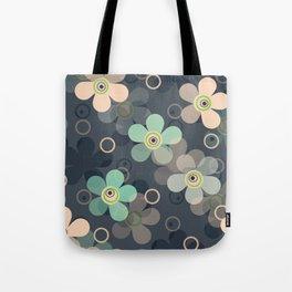 simple, rustic, flowers, flower pattern, grey background Tote Bag