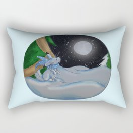 The Festive Moon Rectangular Pillow