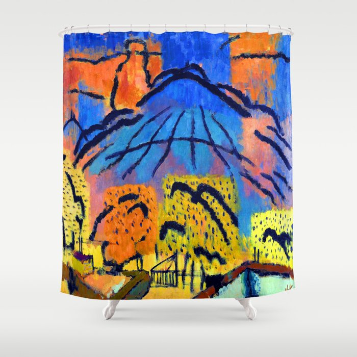 Johans Valters Mountain Near Metzinger Shower Curtain By