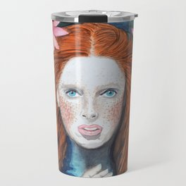 Water Nymph in a bath with a Lotus Travel Mug
