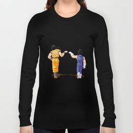 Fan Art Goku and Vegeta friends Long Sleeve T-shirt