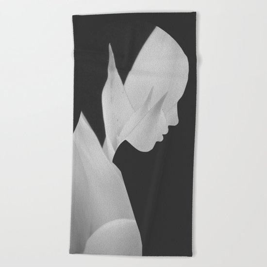 abstract portrait Beach Towel