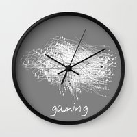 gaming Wall Clocks featuring gaming by K_REY_C