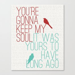 Keepsake - State Radio Lyrics Canvas Print
