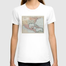 Vintage Map of The Gulf of Mexico (1732) T-shirt