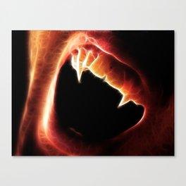 Magical Vampire Fangs Canvas Print