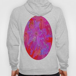Orchid Cactus Hot Fuchsia Abstract Hoody