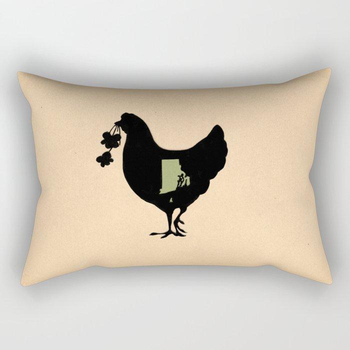 Rhode Island - State Papercut Print Rectangular Pillow