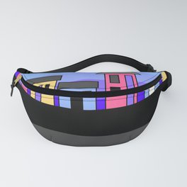 Pastel Evening Houses Fanny Pack