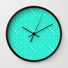Tiffany Blue Smoké Royal Stain Wall Clock