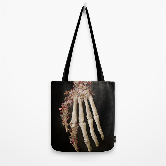 """""""Spring 1"""" skull and flowers Tote Bag"""
