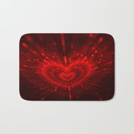 Cupid's Arrows | Valentines Day | Love Red Black Heart Texture Pattern Bath Mat
