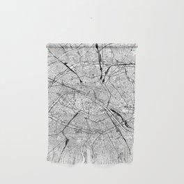 Paris White Map Wall Hanging