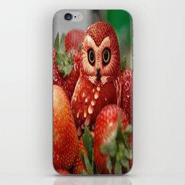 Owl_Strawberry iPhone Skin