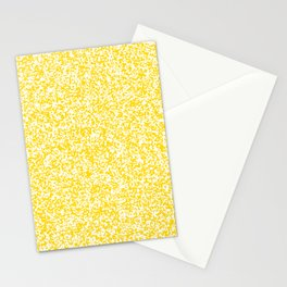 Tiny Spots - White and Gold Yellow Stationery Cards