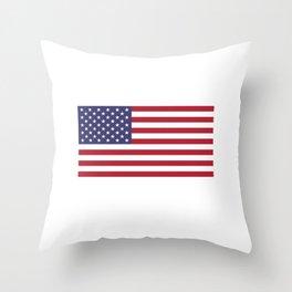 Stomp my flag. I'll stomp your ass Throw Pillow