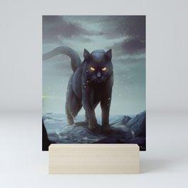 Big Black Cat Mini Art Print