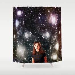 She Walked the Universe  Shower Curtain