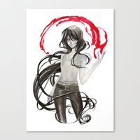 marceline Canvas Prints featuring Marceline by Mirlolo