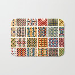 Egyptian Patterns from Vintage Design Book Bath Mat