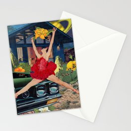 """Leap"" Collage Stationery Cards"