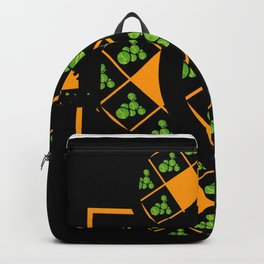 Orange and Green Spaces 105 Backpack
