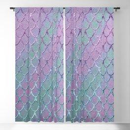 Mermaid Princess Glitter Scales Glam #1 #shiny #stripes #decor #art #society6 Blackout Curtain