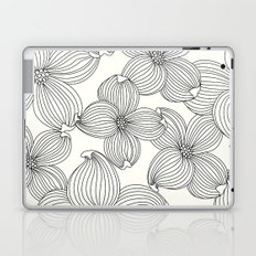 Dogwood Floral Linear: Black Ivory Laptop & iPad Skin