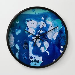 Orca Whale Marvels at the Melting Ice, Environmental # 4 Wall Clock