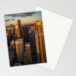 Downtown Seattle Sunset Stationery Cards
