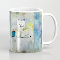 westie Mugs featuring West Highland White Terrier ~ Westie ~ Sophisticated Wally ~ Ginkelmier by Ginkelmier