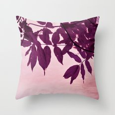 wisteria leaves Throw Pillow