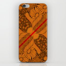 Diagonal Abstract Psychedelic Doodle 9 iPhone Skin