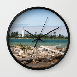 Beach with a view Wall Clock