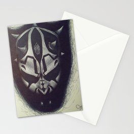 Darth Maul pen drawing Stationery Cards