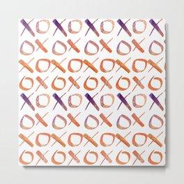 xoxo Watercolor Purple Orange Metal Print