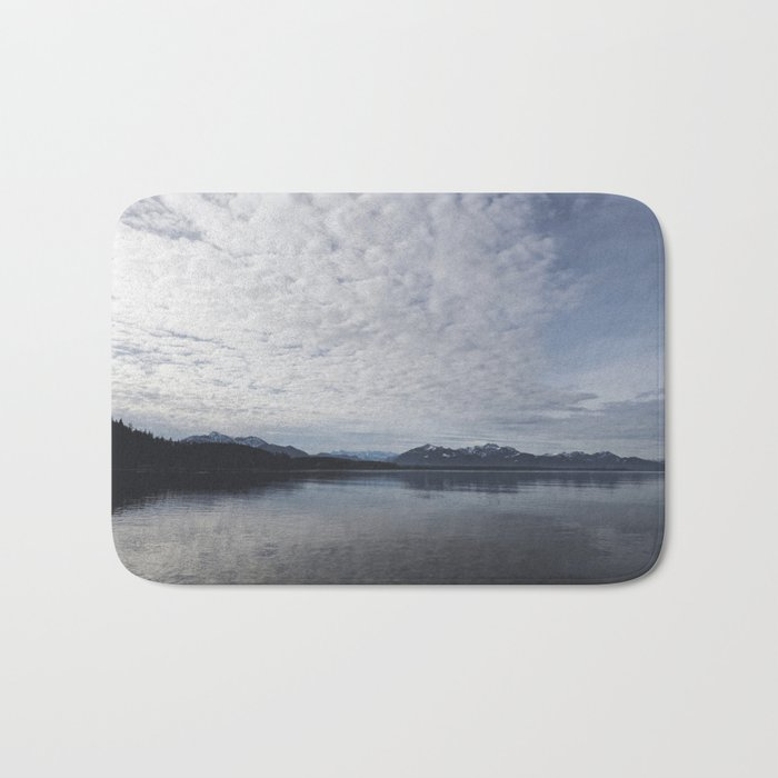 Lake and mountains - High and low - Landscape Photography Bath Mat