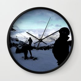Up here with wonderful views Wall Clock