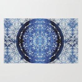 Boho Brocade Blue Mandalas Rug