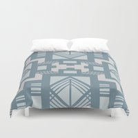 gatsby Duvet Covers featuring gatsby blue by Kozza