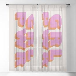 Girl Power Sheer Curtain