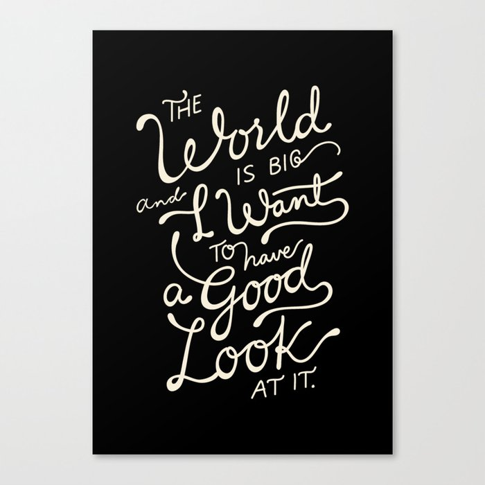 Big world 2 Canvas Print