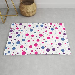 Pink Purple Blue Dots Rug