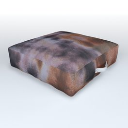 Copper and Iron abstract pattern Outdoor Floor Cushion