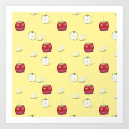 Toffee Apples Pattern Art Print
